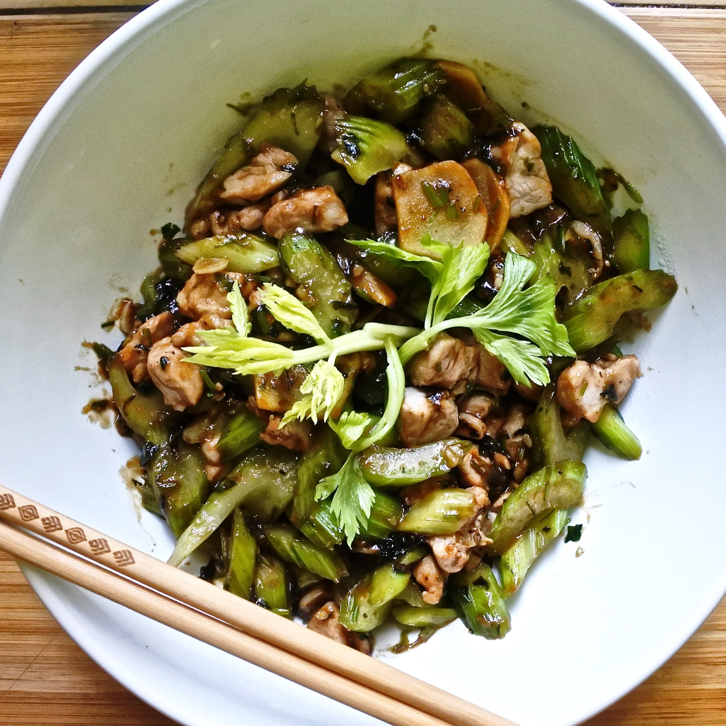 Pork and Celery Stir Fry