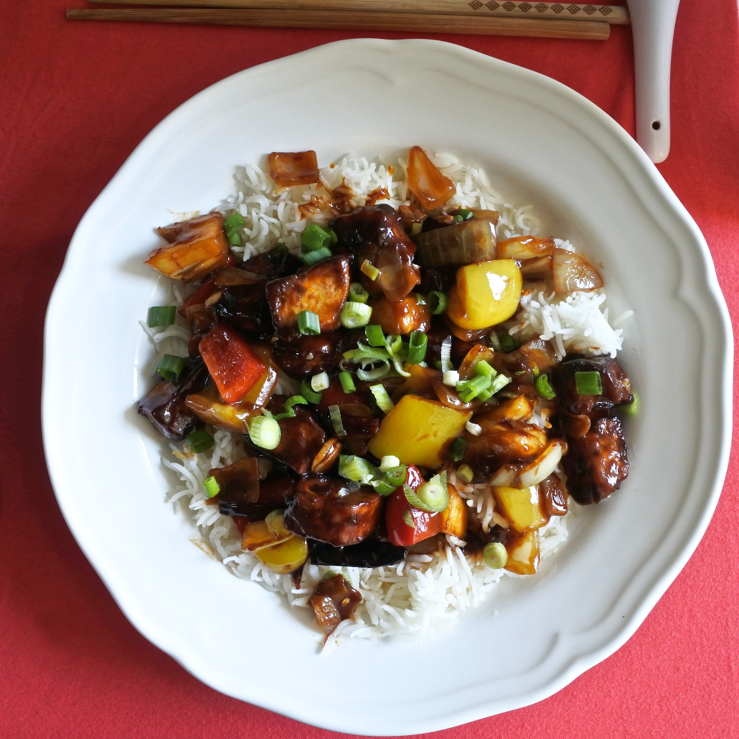 Sweet and Sour Crispy Tofu