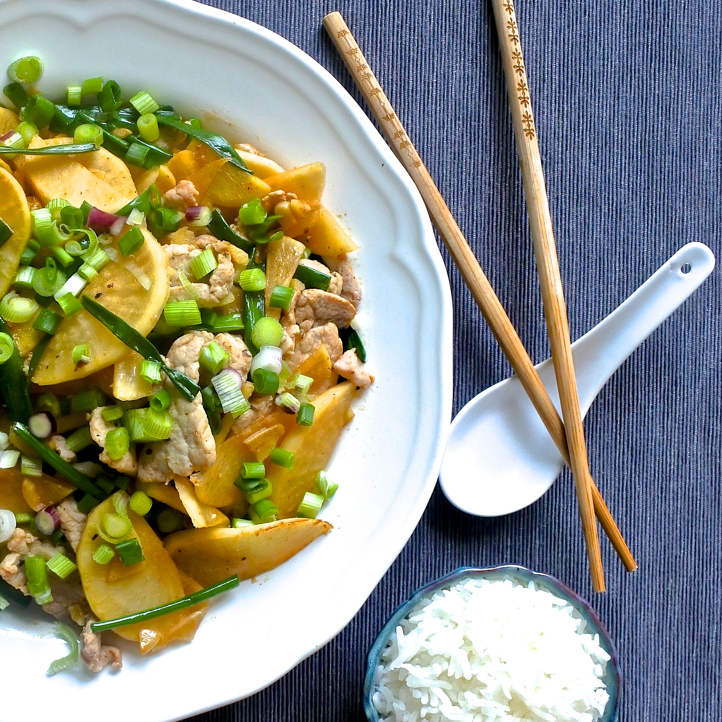 Pork and Pickled Daikon Stir-fry