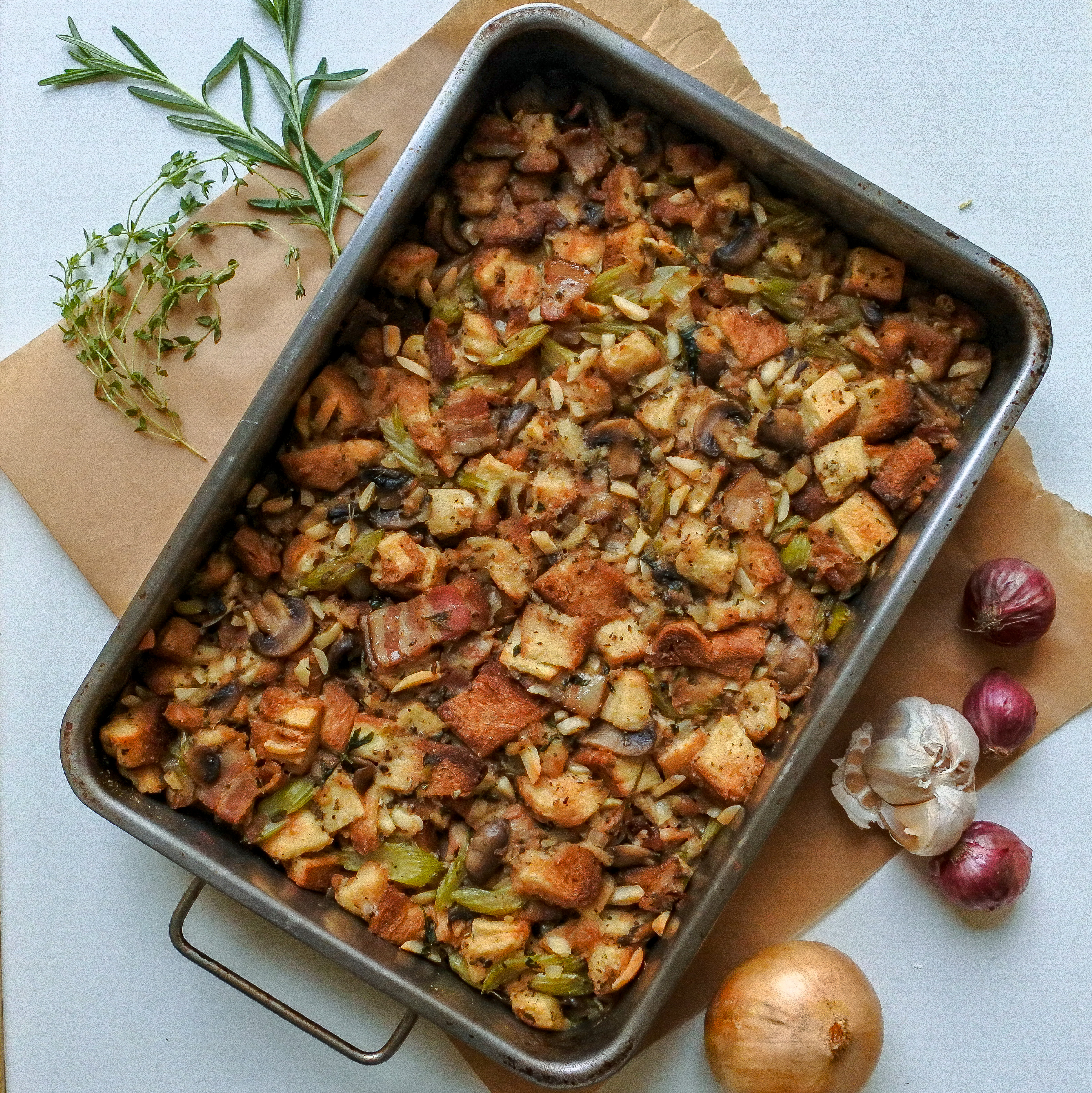 Bacon, Almond and Herb Stuffing